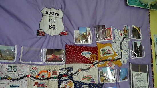 National Route 66 Museum: Rt 66 wall quilt that I designed and made-3/14