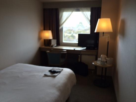 KKR Hotel Osaka: 部屋から大阪城が