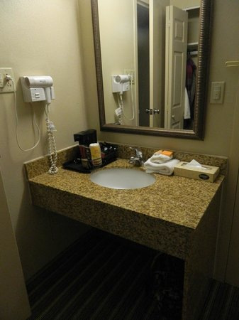 La Quinta Inn & Suites Indianapolis Downtown: Vanity separate from bathroom