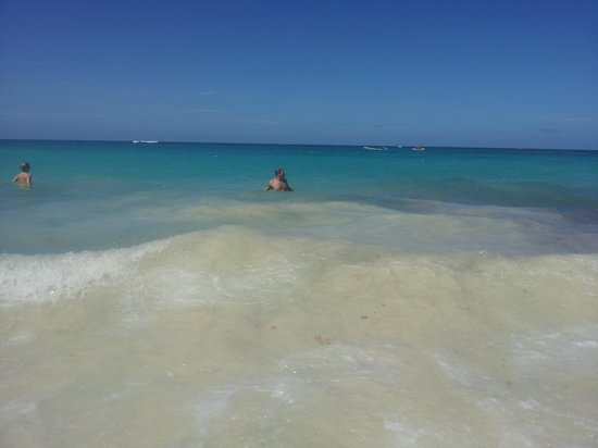 Occidental Caribe: frolicking in water