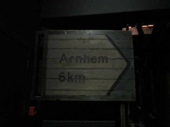 History Trips: Sign to Arnhem inside museum