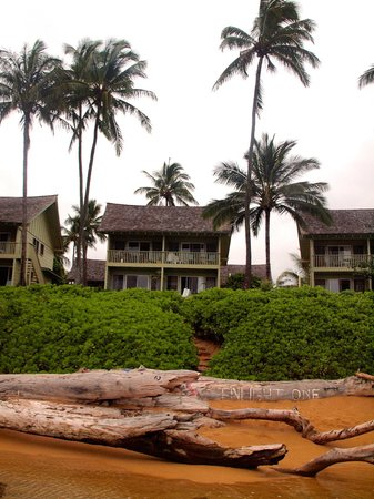 Kapaa Sands: We were in the upper right room of this building