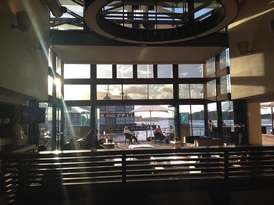 Pier One Sydney Harbour, Autograph Collection : view from reception to outdoor restraunt / bar