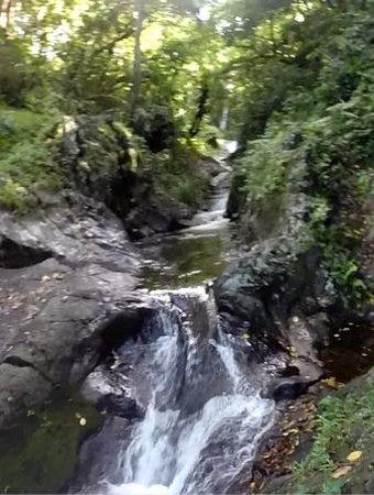 Waitavala Natural Rock Waterslide : Waterfall slide