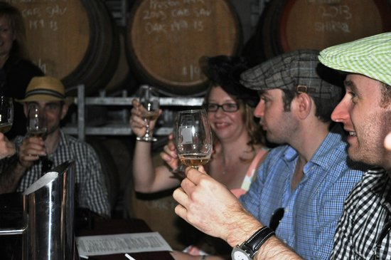 Stanthorpe Day Tours: Wine tasting in the barrel room