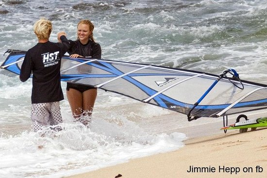 HST Windsurfing & Kitesurfing School : Instructor Skyler Haywood teaches all skill levels including GoPro video analysis!