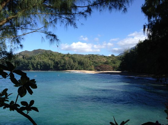 Hanalei Colony Resort: Secluded beach just off the grounds.