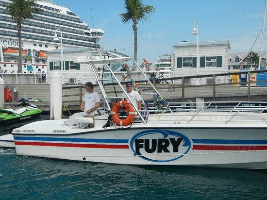 Fury Water Adventures Key West: Getting on the Boat