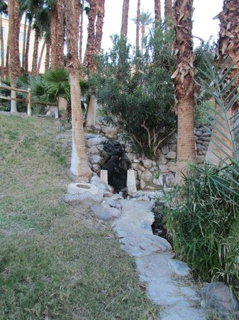 Furnace Creek Inn and Ranch Resort: waterfall - spring fed - in the garden area