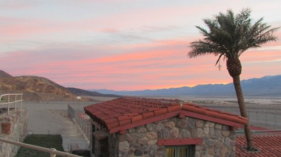 The Inn at Death Valley: sunrise from above the pool