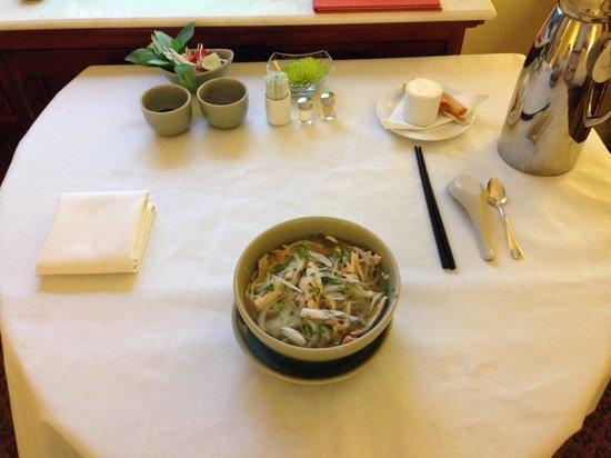 Park Hyatt Saigon: ルームサービス ここのフォーが一番美味しかった。