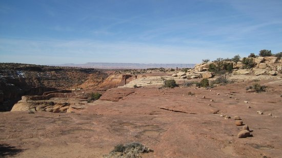 Canyon de Chelly National Monument : Trail at the North Rim