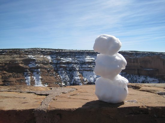 Canyon de Chelly National Monument : Snow at the North Rim!