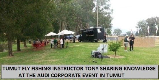 Boutique Motel Sefton House Tumut : TUMUT FLY FISHING INSTRUCTOR TONY WITH AUDI CORPORATE GROUP
