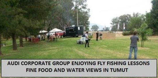 Boutique Motel Sefton House Tumut : AUDI CORPORATE GROUP ENJOYING FLY FISHING LESSONS WITH TONY