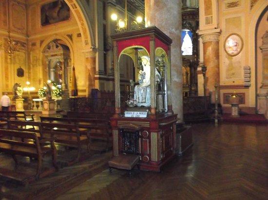 Iglesia de La Merced: Santiago de Chile. Iglesia Basílica de La Merced. Virgen de La Merced.