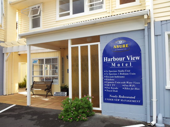 ASURE Harbour View Motel: Reception entrance to motel