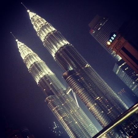 Hotel Maya Kuala Lumpur : nice view of Twin Towers from the 13th floor lounge