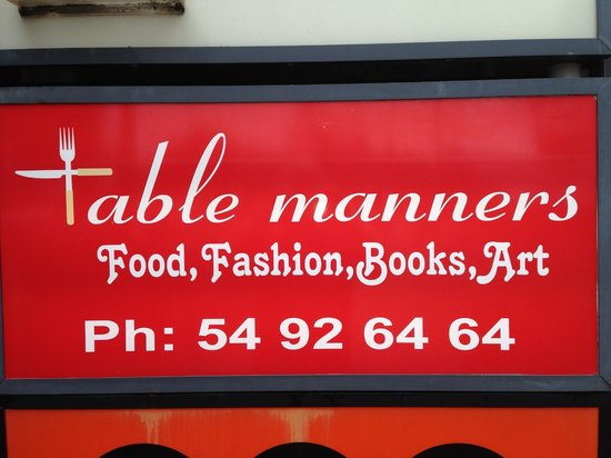 Table Manners: Restaurant's Signage.