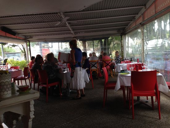 Table Manners: Covered outdoor area