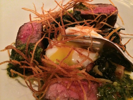 Sbraga: NY STrip with 63 degree egg - YUM!