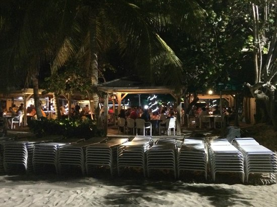 Mr. Busby's Beach Bar : Daniel's from the beach at night