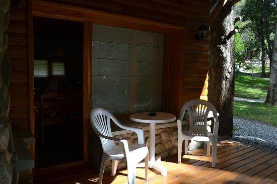 Bosque Dormido Cabañas & Spa : Deck