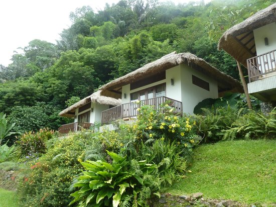 Kelimutu Crater Lakes Eco Lodge, Moni, Flores: view of our private bungalow