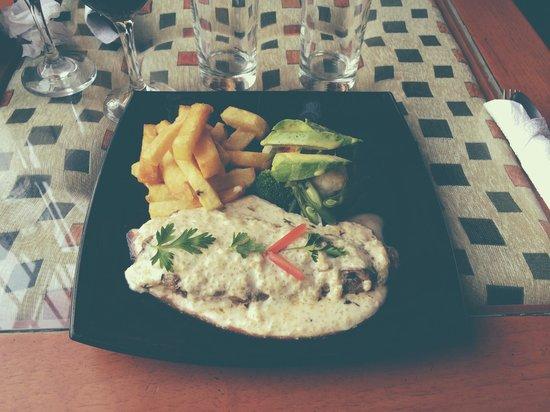 Colibri: Filet d'alpaga avec sa sauce au quinoa