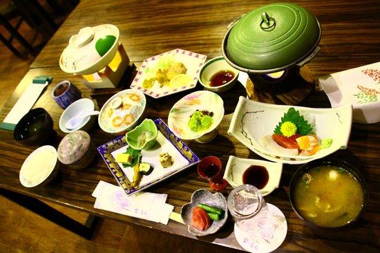 Yorokobi no Yado Takamatsu (Hotel Takamatsu): Dinner