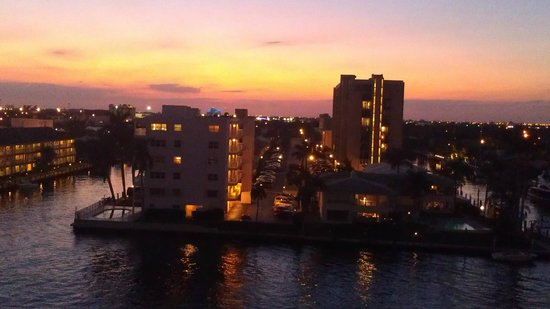Residence Inn Fort Lauderdale Intracoastal/Il Lugano: sunset