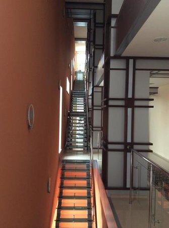 Stepnaya Palmira : лестница в гостинице