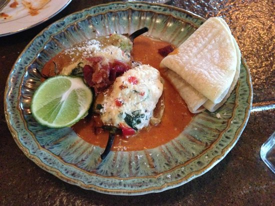 Carmelita Spats: Crab Stuffed chilis were delish!