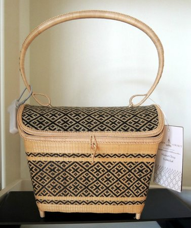 Queen Sirikit Museum of Textiles: Woven basket in the gift shop