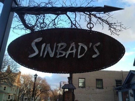 Sinbad's Mediterranean Cuisine: Sinbad's street sign