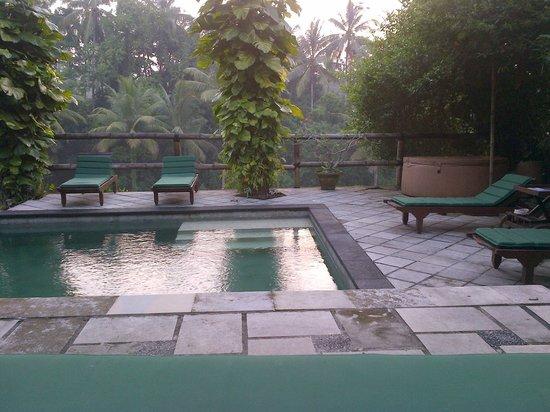 Villa Gaia : suasana hotel yang hanya terdiri dari beberapa kamar , membuat suasan liburan menyenangkan