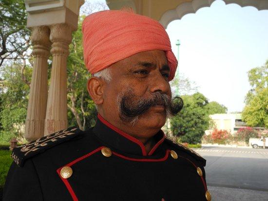 Rambagh Palace: Doorman .... wonderful moustache...