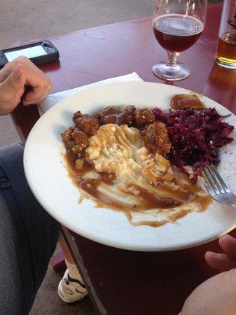 The Viking Garden Restaurant & Cellars : Swedish meatballs half eaten already!!