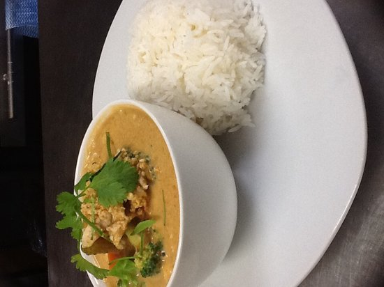 Menu Thai Restaurant : curry with rice