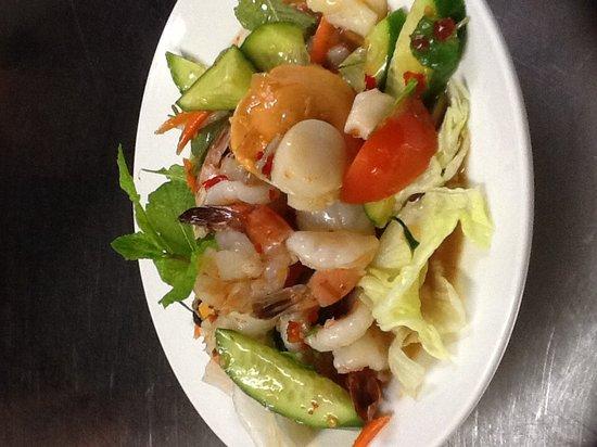 Menu Thai Restaurant : Prawns salad