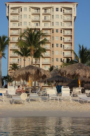 Marriott's Aruba Surf Club: Picture of Lighthouse Tower from Beach