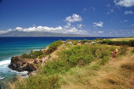 Honolua Bay: Honulua Bay入り口側からの眺め、目の前はMolokai島