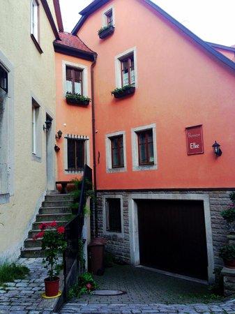 front door of Pension Elke