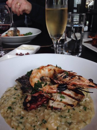 Marty @ Oakdene: BBQ seafood risotto... Simply delicious.