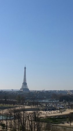 The Westin Paris - Vendome: View from room. Eiffel Tower