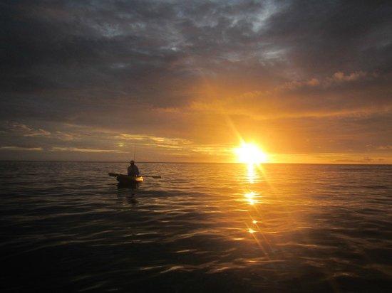 Paradise Taveuni: on the kayak