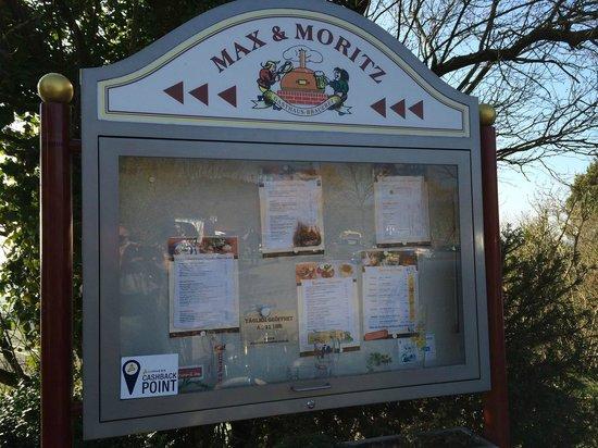 Max & Moritz: Wirtshausschild