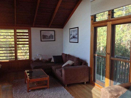 The Oasis Resort & Treetop Houses: Upstairs living area, lorikeet treetop house
