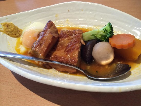 Kohan Restaurant: Kahuni pork belly that goes well with rice. Everything in this dish is very well done!
