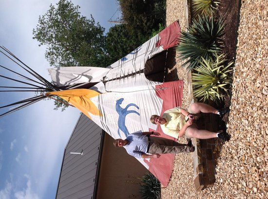 Museum of Native American History : This teepee should catch your attention as you drive by the museum.